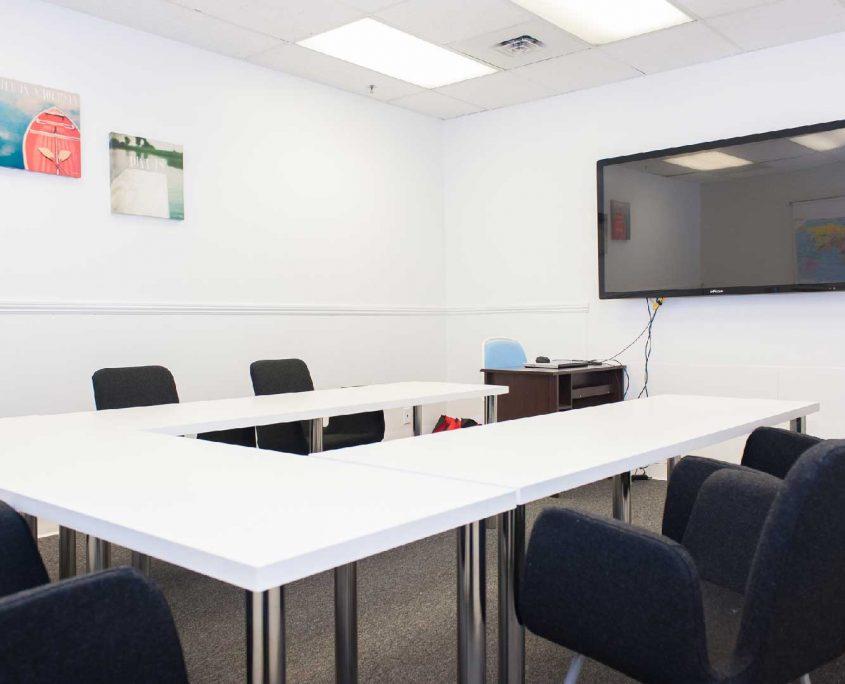 comfortable learning esl classroom